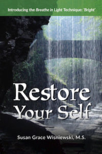 'Restore Your Self 'introduces the Breathe in Light self-healing technique: 'Bright', which aids one in using their breath, Light and intentions to transform and release the accumulated life history stockpiled within us.