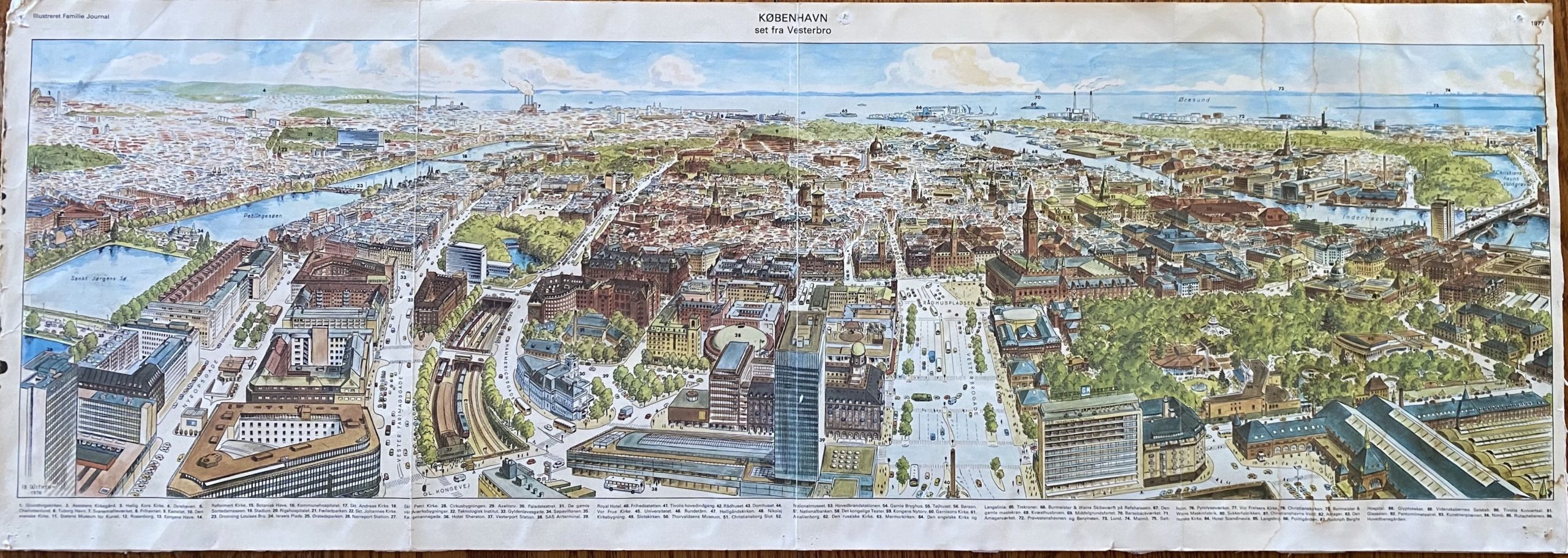mercury retrograde memories had me accessing the time I spent in Copenhagen, Denmark, and how much I loved this color map of the city
