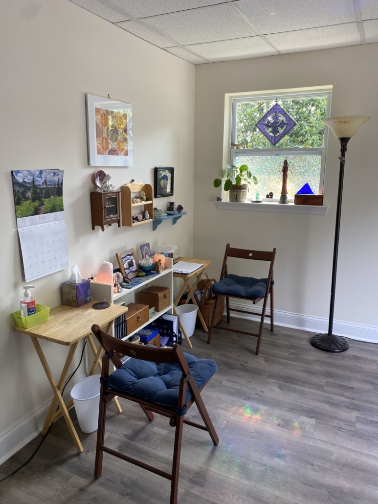 Finding my office where I practice Reiki With Some Help From My Intuition