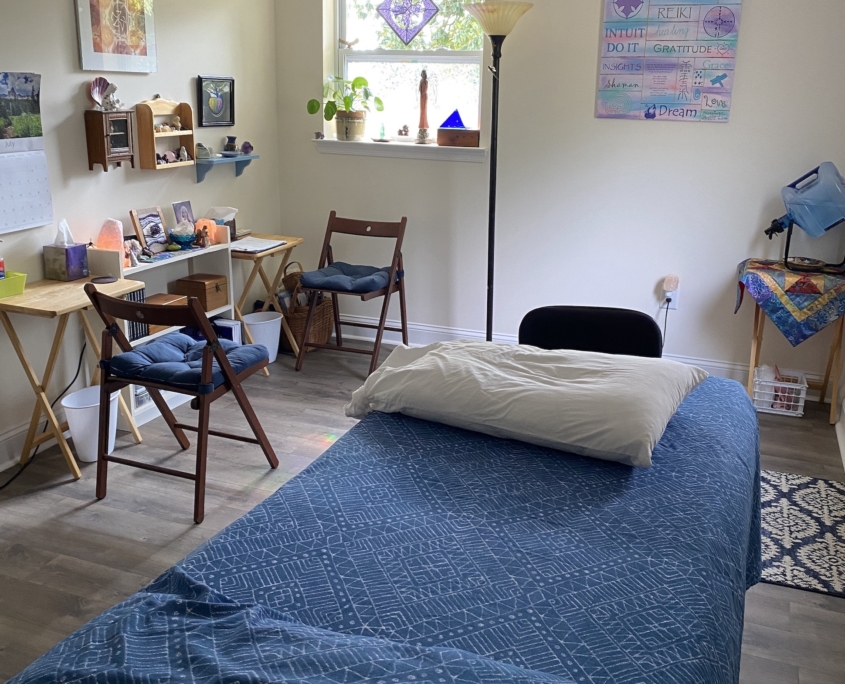 An intuitive nudge told me to look for this new office where I practice Reiki